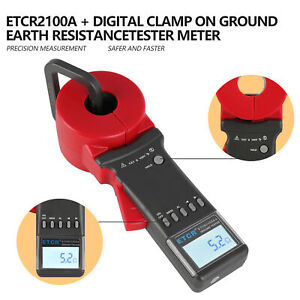 Digital Etcr Clamp Earth Resistance Tester 0 01 200 Ground Resistance Meter New