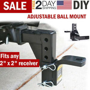 Adjustable Ball Mount Drop Hitch Trailer Heavy Duty Towing System Car Receiver