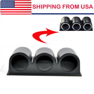 Universal Car 2 52mm 3 Triple Hole Dash Gauge Pod Mount Holder Abs Us Seller