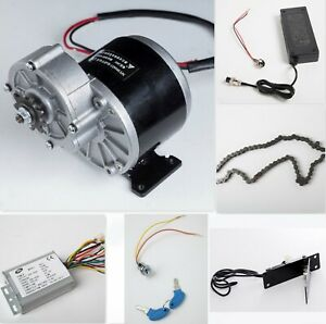 350w 24v Electric Motor W Gear Reduction reverse Controller charger pedal more
