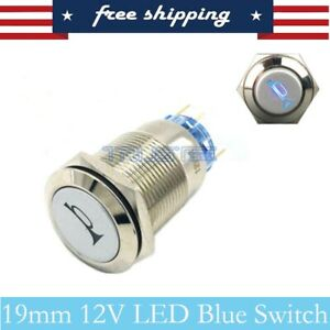 19mm Momentary Switch Car Horn Metal Led Light Push Button Toggle Switch
