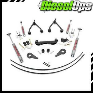 Rough Country 2 3 Lift Kit W 2 2 Shocks Leafs For Gm 1500 Truck suv 88 99 4wd