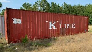 20ft High Cube k line Conex Steel Shipping ocean Container 40ft Long