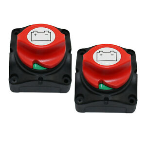 2 Packs 400a Battery Disconnect Cut On off Rotary Switch Car Boat Rv Switch