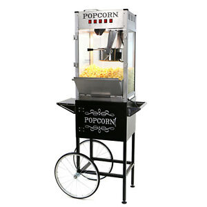 Paramount 16oz Commercial Popcorn Maker Machine Cart 16 Oz Popper silver