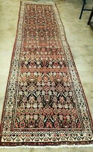 3 5 X14 Antique Cr1900 Hand Knotted Caucasian Shirvan Tribal Vintage Wool Rug