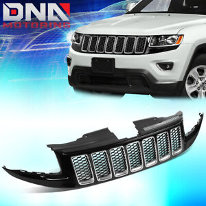 For 2014 2016 Jeep Grand Cherokee Srt8 Style Honeycomb Mesh Front Bumper Grille