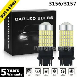 144smd 3156 3157 Led Lights Reverse Backup Signal Bulb 6000k White For Chevrolet