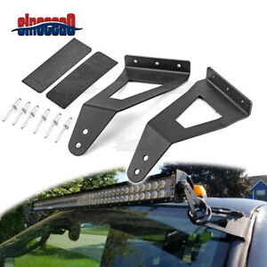 For 2004 2014 Ford F150 Roof 52 Inch Curved Led Light Bar Mounting Brackets Kit