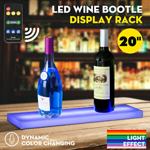 20 Music activated Led Lighted Bar Liquor Display Shelf Rack Wine Bottle Stand