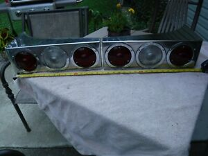 Sutphen Fire Truck Rear Tail Lights In Stainless Housings Rat Rod Rad sales Vtg