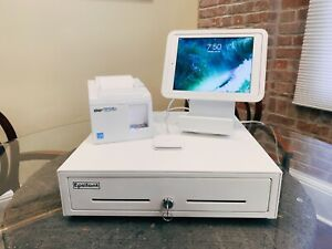 Square Pos System W Ipad Cash Drawer Receipt Printer Card Reader
