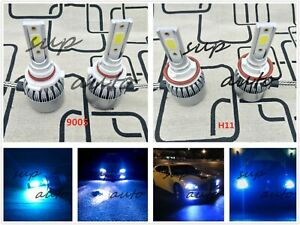 9005 H11 Combo Led Headlights Bulb Kit High Low Beam Super Bright 8000k Ice Blue