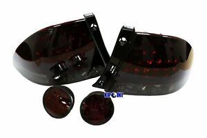 Led Red Smoke Rear Trunk Tail Lights Led Lights For Lexus Is200 Is300 Altezza