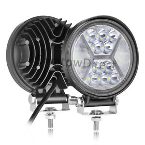 2pc 5inch 390w Round Led Work Lights Spot Flood Offroad Driving Fog Drl 6000k 4