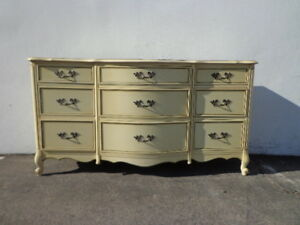 French Provincial Dresser Chest Of Drawers Shabby Chic Mid Century Buffet Media