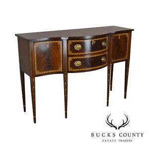 Councill Craftsman Federal Style Flame Mahogany Inlaid Sideboard