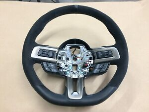 2016 2018 Ford Mustang Shelby Gt350 Leather Suede Steering Wheel Manual Oem