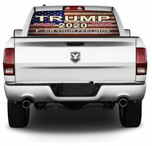 Trump 2020 Pick up Truck Rear Window Graphic Decal Perforated Vinyl 156
