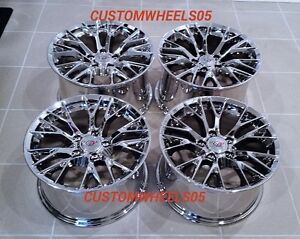 Chrome C7 z06 Style Corvette Wheels Fits 1997 2004 C5 17x8 5 18x9 5 Base C5