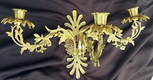 Bouillotte Wall Sconce Antique French Lamp Light Ornate Gilt 19th Century