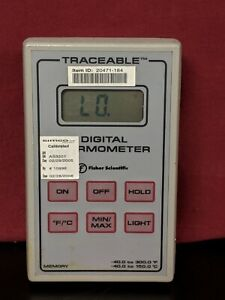 Fisher Scientific Traceable Memory Digital Thermometer 40 To 150 C W o Probe