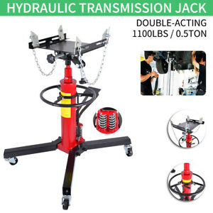 Pro 1100 Lb Hydraulic Transmission Jack Double Acting Adjustable Lift Height