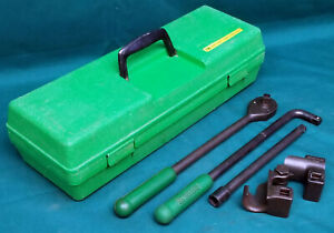 Greenlee 796 Rachet Cable Bender 4 Piece Set Extension Box