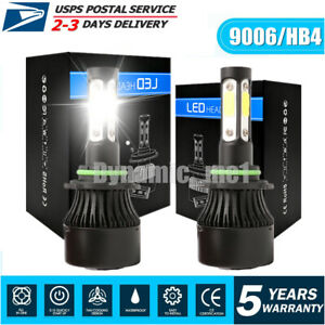 4 Side 9006 Car Led Headlight Hb4 9012 Fog Lights Kit 2800w 280000lm Bulbs 6000k