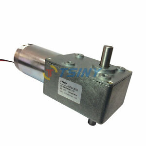 High Torque Dc Turbo Worm Geared Box Motor With Dual Shaft Electric 12vdc 28rpm