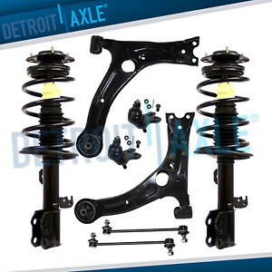 1 8l For 2009 2010 2013 Toyota Corolla Front Struts Lower Control Arms Sway Bars