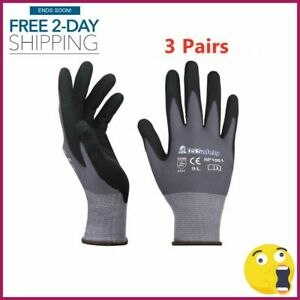 Knit Work Gloves Nitrile Coated Work Gloves Men Thin Working Gloves