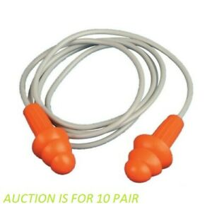 Jackson Safety H20 Reusable Triple Flange Ear Plugs 67221 10 Pairs