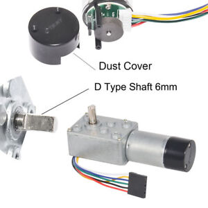 12v 3 200rpm Dc Worm Gear Reducer Motor With Dual Channel Hall Effect Encoder