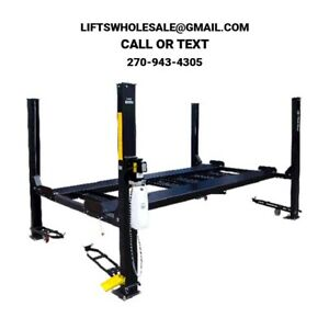 New 8 000 Lbs 4 Post Parking Storage Lift Basic Model No Accessories 110v