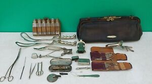 Antique Surgical Instruments Tools Doctor S Bag C1900 Group Lot