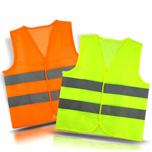 Neon Security Safety Vest W High Visibility Reflective Stripes Orange Yellow