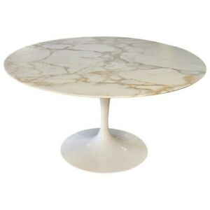 Knoll Calacatta Marble Tulip Dining Table