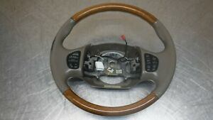Ford Excursion F250 Lincoln Navigator Leather Wood Wrapped Steering Wheel Audio
