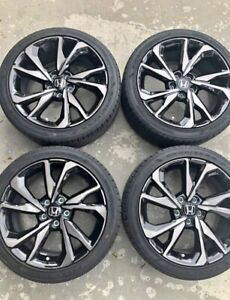 18 Honda Civic Hatchback Sport 2017 2018 19 Factory Oem Rims Wheels Goodyear Si