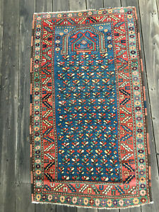 Antique Caucasian Shirvan Prayer Rug From The Late 19th C Or Early 20th C