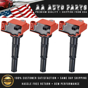 Pack Of 3 Red Ignition Coil For 2000 2004 Toyota Tundra 96 02 4runner V6 3 4l
