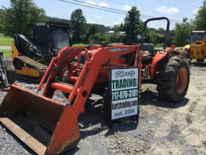 2003 Kubota M5700 4x4 Utility Tractor W Loader Needs Work Coming Soon