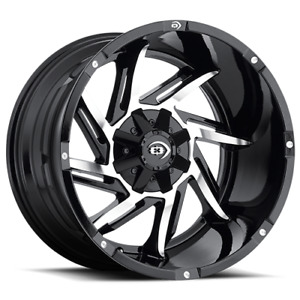 18x9 Vision Off Road 422 Prowler Black Machine Wheel 6x135 6x5 5 12mm Set Of 4