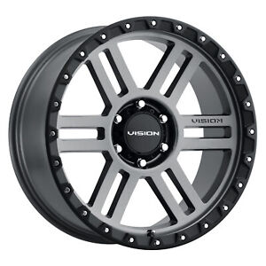18x9 Vision Off Road 354 Manx 2 Satin Grey Wheels 5x150 12mm Set Of 4