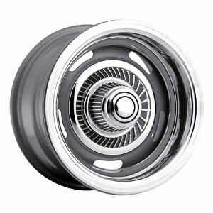 15x8 American Muscle 55 Rally Silver Wheels 5x5 6mm Set Of 4