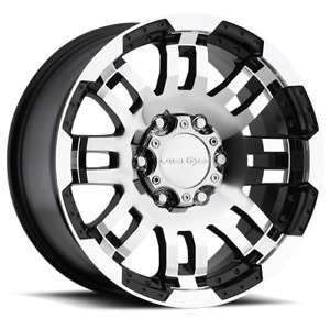18x8 5 Vision Off Road 375 Warrior Black Machined Wheels 6x5 5 25mm Set Of 4