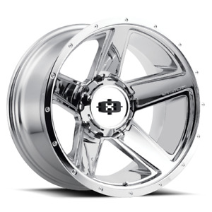 20x9 Vision Off Road 390 Empire Chrome Wheels 8x6 5 18mm Set Of 4