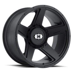 20x9 Vision Off Road 390 Empire Satin Black Wheels 8x180 18mm Set Of 4