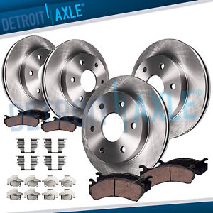 325mm Front Rear Brake Rotors Ceramic Pads 2005 2007 2008 2009 Saab 9 7x